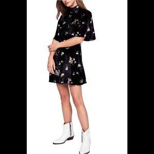 Free People NWT Be My Baby Velvet Mini Dress
